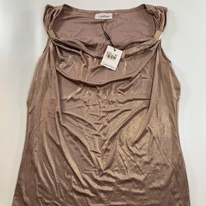 Calvin Klein | Rose Gold Sleeveless Top Medium